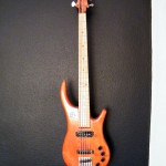 Bass Guitar- Custom built- Custom pickups- Ibanez Shape- Mattblack Speedshop- 01
