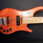 Bass Guitar- Custom built- Custom pickups- Ibanez Shape- Mattblack Speedshop- 02