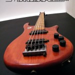 Bass Guitar- Custom built- Custom pickups- Ibanez Shape- Mattblack Speedshop- 03