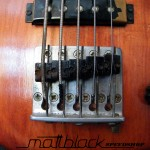Bass Guitar- Custom built- Custom pickups- Ibanez Shape- Mattblack Speedshop- 04