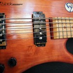 Bass Guitar- Custom built- Custom pickups- Ibanez Shape- Mattblack Speedshop- 05