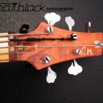 Bass Guitar- Custom built- Custom pickups- Ibanez Shape- Mattblack Speedshop- 07