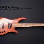 Bass Guitar- Custom built- Custom pickups- Ibanez Shape- Mattblack Speedshop- 10