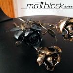 Steel Rose- Metal Flower- Custom made- Mattblack Speedshop- 01