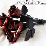 Steel Rose- Metal Flower- Custom made- Mattblack Speedshop- 06