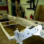 VW Beetle 1965 - 20120516 - Restoration - Tuning - Hot Rodding - Mattblack Speedshop - 05 -  Sandblasted Chassis.JPG