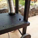 Grill oven - Custom made - wood grill - Mattblack Speedshop - 08 - speed control knob for the fan