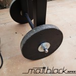 Grill oven - Custom made - wood grill - Mattblack Speedshop - 09 - wheels for easy transport