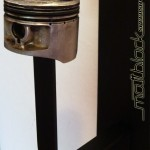 Helmet hanger - motorcycle - piston - customade - Mattblack Speedshop- 05